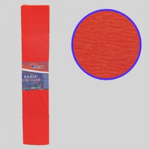 Бумага креповая 55% №KR55-8024 ОРАНЖЕВЫЙ ТЕМНЫЙ 50*200см, 20г/м2 (10 уп)