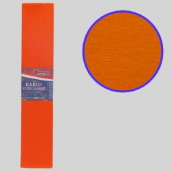 Бумага креповая 55% №KR55-8015 ОРАНЖЕВЫЙ 50*200см, 20г/м2 (10 уп)
