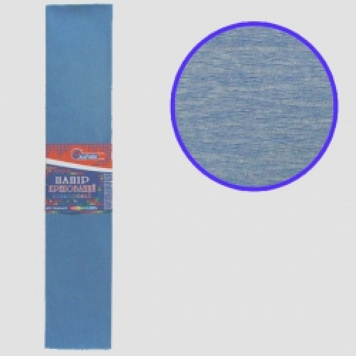 Бумага креповая 55% №KR55-8033 СЕРО-ГОЛУБОЙ 50*200см, 20г/м2 (10 уп)