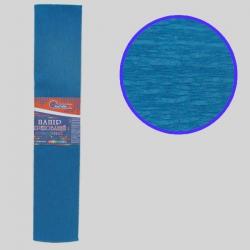 Бумага креповая 55% №KR55-8008 ГОЛУБОЙ ТЕМНЫЙ 50*200см, 20г/м2 (10 уп)