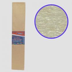 Бумага креповая 30% №KRPL-80103 ПЕРЛАМУТРОВЫЙ ЗОЛОТИСТЫЙ 50*200см, 20г/м2 (10 уп)