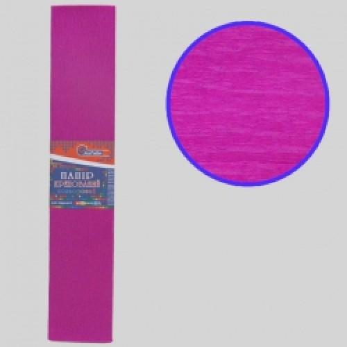 Бумага креповая 55% №KR55-8005 РОЗОВЫЙ ТЕМНЫЙ 50*200см, 20г/м2 (10 уп)