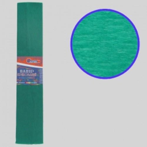 Бумага креповая 55% №KR55-8010 ЗЕЛЕНЫЙ 50*200см, 20г/м2 (10 уп)