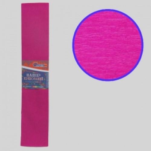 Бумага креповая 55% №KR55-8016 МАЛИНОВЫЙ 50*200см, 20г/м2 (10 уп)