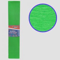 Бумага креповая 55% №KR55-8035 СВЕТЛО-ЗЕЛЕНЫЙ 50*200см, 20г/м2 (10 уп)