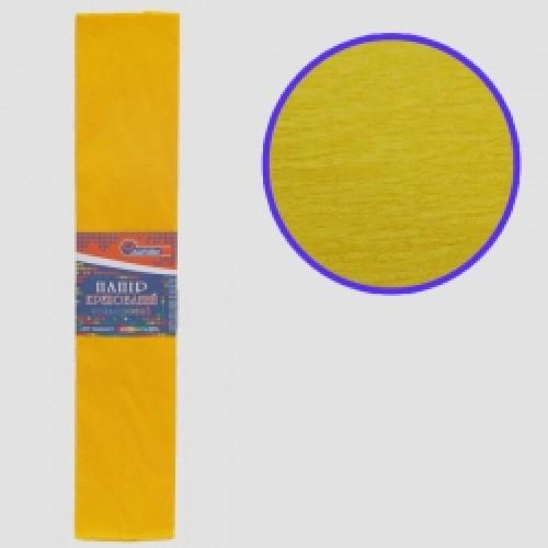 Бумага креповая 55% №KR55-8046 ТЕМНО-ЖЕЛТЫЙ 50*200см, 20г/м2 (10 уп)