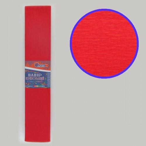 Бумага креповая 55% №KR55-8001 КРАСНЫЙ 50*200см, 20г/м2 (10 уп)