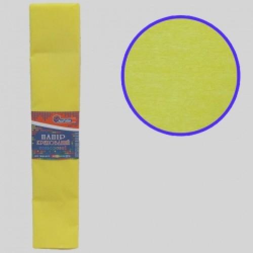 Бумага креповая 55% №KR55-8014 ЖЕЛТЫЙ СВЕТЛЫЙ 50*200см, 20г/м2 (10 уп)