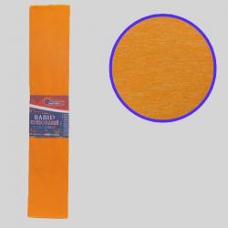 Бумага креповая 55% №KR55-8018 ОРАНЖЕВЫЙ СВЕТЛЫЙ 50*200см, 20г/м2 (10 уп)