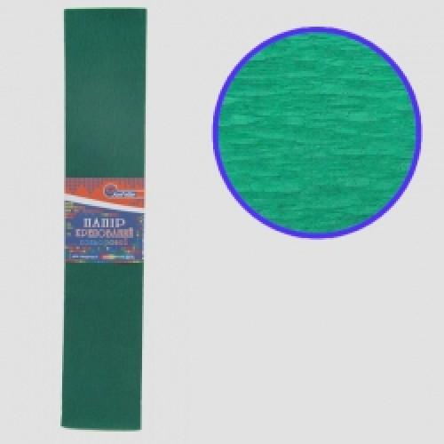 Бумага креповая 55% №KR55-8040 ЗЕЛЕНЫЙ ТЕМНЫЙ 50*200см, 20г/м2 (10 уп)