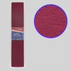 Бумага креповая 55% №KR55-8002 БОРДОВЫЙ 50*200см, 20г/м2 (10 уп)