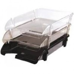 Лоток пластик для бумаги горизонталн №ЛГ-06 прозрачный