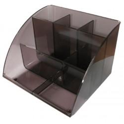 Органайзер наст пластик (черный, дымчатый) 7отд.