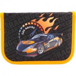 """Пенал Kite 1 отд. и 1 отвор. К18-621-6 """"Sport Racing"""" внутри таблица умнож+расписание"""