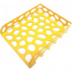 """Лоток пластик. горизонтальный """"Желтый"""" 31*24,5см  (уп10) 20705"""