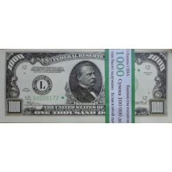 """Пачка денег (сувенир) №013 Доллары """"1000"""""""