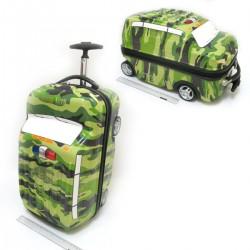 Чемодан-каталка №4957 детский на 2+2 колесиках (каркас) military auto 18