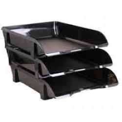 Лоток пластик для бумаги горизонталн №ЛГ-06 черный