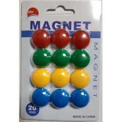 """Магнит 1570DSCN """"Colors"""" цветные 12шт., 2см"""