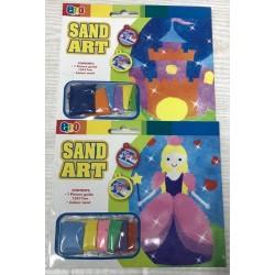 Раскраска с песком №0796 (1 картинка, 6цв песка) 13*17см, 2вида