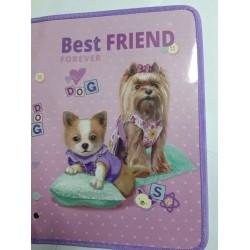 Папка для труда (на змейке) А4 картон № 13666 Best friend