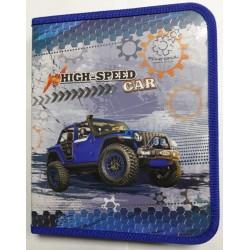 Папка для труда (на змейке) А4 картон № 13667 High speed