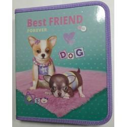 "Папка для тетр.B-5 на змейке (картон)  №13662 ""Best friend"" Kidis"
