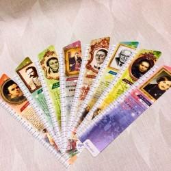 """Набор закладок картон """"Классики украинской литературы"""" с линейкой 21см, 8шт (уп12) 24*5,5см"""