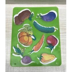 """Трафарет """"Овощи"""" (202*155) ,с цветной картинкой"""