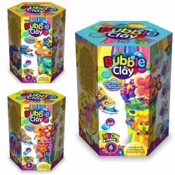 "Масса для лепки шариковая ""BUBBLE CLAY ВАЗА"" BBC-V набор (6цв,кристалл,стакан,лента,палочки)"