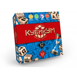 """Игра настольная """"Кубикум"""" G-KU-01 кубики-12,фишки-100,карточка-органайзер-1шт; пес.часы-1"""
