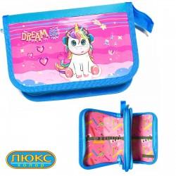 "Пенал Kidis 14025 (2 отдел ) ""Unicorn Dreams"""