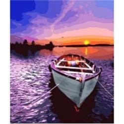 """Картина-раскраска по номерам на холсте 40*50  X1311 """"Горный пейзаж """" (н-р акрил.красок 24цв+3 кисти)"""