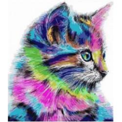 """Картина-раскраска по номерам на холсте 40*50  X1227 """"Котики """" (н-р акрил.красок 24цв +3 кисти)"""