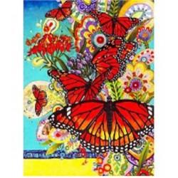 "Картина-раскраска по номерам на холсте 40*50  X1044 ""Река-водопад "" (н-р акрил.красок 23цв +3 кисти)"