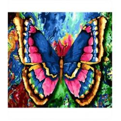 """Картина-раскраска по номерам на холсте 40*50  X1050 """"Львы-прайд """" (н-р акрил.красок 24цв +3 кисти)"""