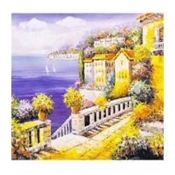"""Картина-раскраска по номерам на холсте 40*50  X1062 """"Закат """" (н-р акрил.красок 24цв+3 кисти)"""