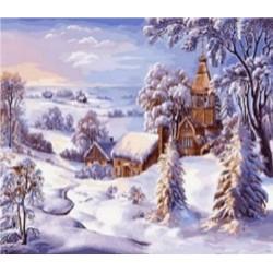 """Картина-раскраска по номерам на холсте 40*50  X1862 """"Обезьяна"""" (н-р акрил.красок 20цв+3 кисти)"""