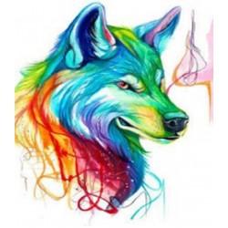 """Картина-раскраска по номерам на холсте 40*50  X1125 """"Павлин"""" (н-р акрил.красок 24цв+3 кисти)"""