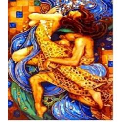 """Картина-раскраска по номерам на холсте 40*50  X1113 """"Черепахи"""" (н-р акрил.красок 24цв+3 кисти)"""