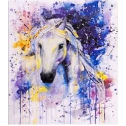 "Картина-раскраска по номерам на холсте 40*50  X1182 ""Байк"" (н-р акрил.красок 22цв+3 кисти)"