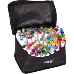 Набор двухстор. маркеров BV800-80 цветов для рисования  (круглый+скошен.) квадратн. в сумке