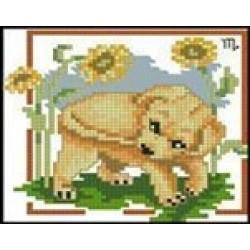 Мозаїка алмазна 5D № D1003 Собачка 18 * 18см