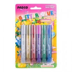 "Клей силик с блест.на карт.F-019-07-1(10 гр.х6цв.)""Pasco""""Multi Colours""инт. добавл.зол.и сер(ящ144)"